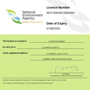 NEA cleaning Licence